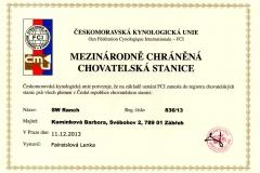 chov.st. certifikat
